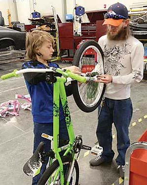 Assembling bikes for a safety rodeo