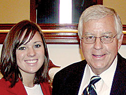 Stephanie Usry and Sen. Enzi
