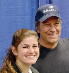 Maria Olney and Mike Rowe