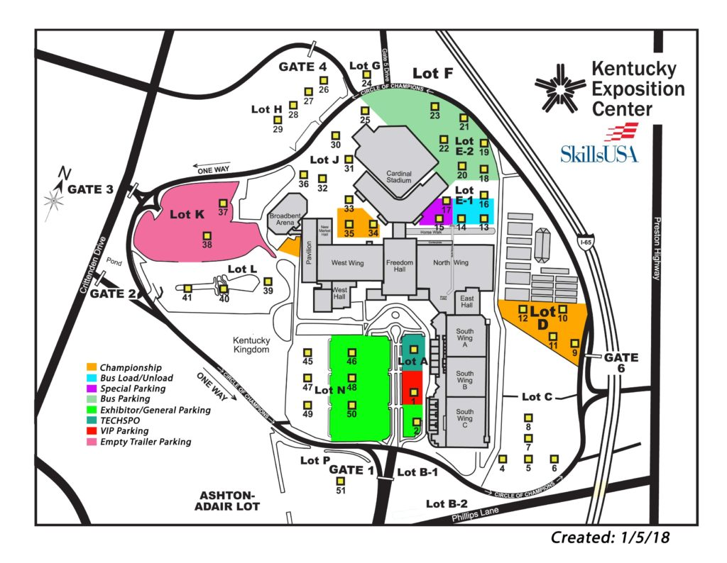 NLSC parking map